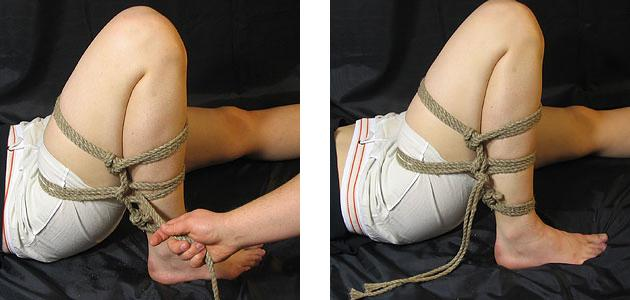 Element shibari: bundna fötter
